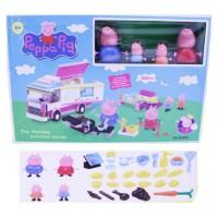 Mainan Anak - Peppa Pig Food Truck Lego Set (335pcs)