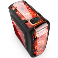 SEGOTEP GAMING CASE POLAR LIGHT - Side Window - 1x Red Front Led Fan -