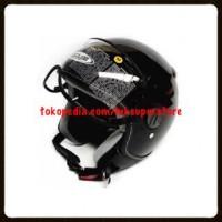 Jual ZEUS 210 HELM RETRO CLASSIC IMPOR BLACK HITAM M L XL Murah