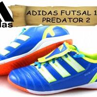 sepatu ADIDAS FUTSAL 10 PREDATOR 2 DOFF biru kw super