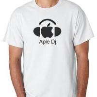 Tshirt/t-shirt/polo/kaos Apple DJ
