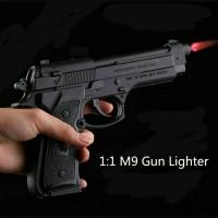 pistol korek api torch naretta mg + sarung + tatakan