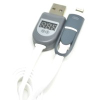 Cable Lightning and Micro USB Cable with LCD for Android / iOS 8
