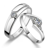 harga Cincin sepsang nikah perak 925 zircon pria wanita couple ring xuping Tokopedia.com