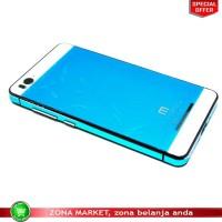 harga Aluminium Tempered Glass Hard Case for Xiaomi Mi4i - Blue Tokopedia.com