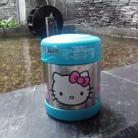 harga Thermos Asli Tempat Makan Tahan Panas Funtainer Hello Kitty Teal Tokopedia.com