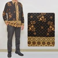 Jual 011 Kemeja Batik Semi Sutra Lengan Panjang Pria Modern Kantor Murah