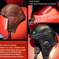 Jual topi kulit kupluk biker/vintage/mountain boy girl Murah