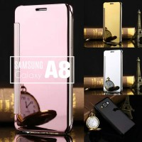 Casing Case Samsung Galaxy A8 2015 Mirror Flip Cover Ro Limited