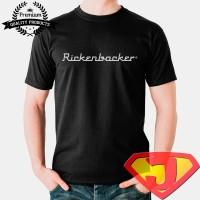 harga Kaos Musik Pria / Wanita - Rickenbacker Electric Guitar Logo Tokopedia.com
