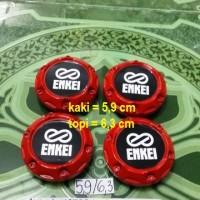 harga dop center / roda velg enkei merah model racing kaki 5,9 cm (set=4) Tokopedia.com