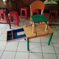 harga kualitas oke!! Meja kursi set belajar kayu Tokopedia.com