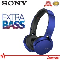 Sony MDR-XB650BT Blue Bluetooth Headphone Extra Bass Original Garansi