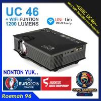 Jual Unic UC46 WIFI 1200 Lumens Mini Projector | Portable Proyektor UC 46 Murah
