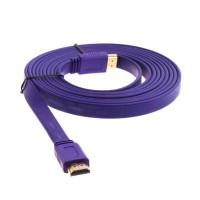 KABEL HDMI TO HDMI 1,5M FLAT VERSI 1.4 3D 1080P 1,5 M