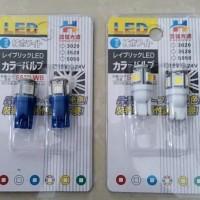 harga Lampu LED T10 Biru 5 Mata ( 2PCS ) Sen, Kota, Senja, Speedometer Tokopedia.com
