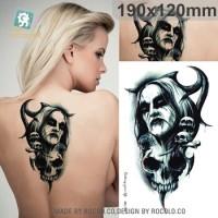 Horor Horrible Bloodsucker Vampire Temporary Tato Stiker MC746 19x12cm