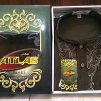 Baju Koko Atlas Bamus Universal Warna Cokelat Tua Ukuran XL