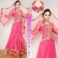Kebaya Barbie Set Selendang #04 Pink Fanta
