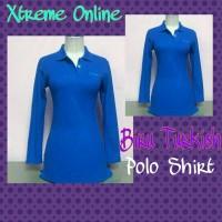 harga Kaos Polo Shirt Wanita Lengan Panjang Bahan Katun Pique Tokopedia.com