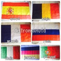 bendera euro (spanyol, belgia, prancis, rusia, italia jerman portugal)