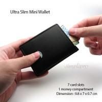Jual Dompet Kulit Pria Tipis Mini Slim Wallet (Kulit Sapi Asli) Murah
