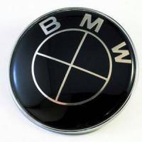 Jual Emblem BMW hitam-hitam 82mm kap mesin / bagasi Murah