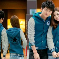couple jaket all star/jaket pasangan/jaket bintang/sweeter/promo-Lt