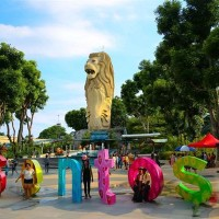 Tiket Merlion Tower Sentosa Singapore Ticket. dewasa/anak-anak.