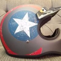 Helm Cakil Pet Captain America Grey / Helm Cakil HBC / Helm Cakil SNI