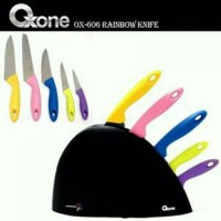 Jual Pisau set Oxone rainbow set murah warna warni potong berbagai makanan Murah