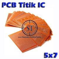 5x7 CM PCB Titik Lubang IC (Matrix Circuit Board Bakelite Solder )