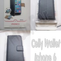 harga Celly Leather Case Wallet For Iphone 6 ( 4.7 ) Black Tokopedia.com