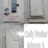 harga Celly Leather Case Wallet For Iphone 6 ( 4.7 ) White Tokopedia.com