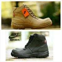 Sepatu lapangan nike safety ujung besi boots casual form