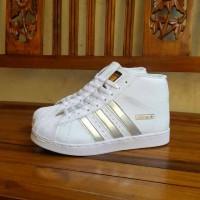 harga sepatu adidas wedges boot putih silver vietnam grade ori cewek 36-40 Tokopedia.com