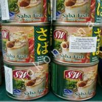 Makanan Kaleng S & W Saba Fish Ikan Makarel Dalam Saus Miso