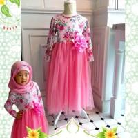 GAMIS BUNGA PINK BIG SIZE Baju Anak Import Sale Branded Dress Kostum