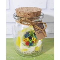 Magic flower MINI BOUQUET - Snowy flower, Botol kaca, Gift, Kado