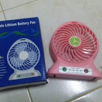kipas angin mini portable bisa power bank & USB