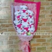 Jual Buket Boneka Hello Kitty | Kado Wisuda | Wedding | Dollbouquet Murah