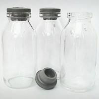 Botol asi tutup karet, botol kaca botol asip wadah asi botol susu