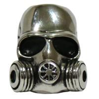 Skullring Titanium Grosir Cincin Tengkorak gas Masker Army Ring Silver