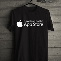 Kaos/T-shirt Gadget Iphone app store logo murah