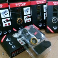 Lensa 3 in 1 Fish Eyes, Wide Views dan Macro untuk Kamera Hp with Clip