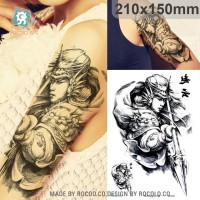 Handsome Zhao Yun Painting Design Temporary Tato Sticker LC853 21x15cm