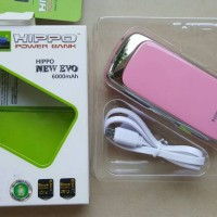 Power Bank HIPPO NEW EVO 6000 mah PINK Simple Pack Samsung cell Inside