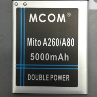 baterai mito A260/A80 double power merk mcom