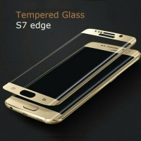 Jual tempered glass anti gores kaca samsung S7 edge full lengkung Murah