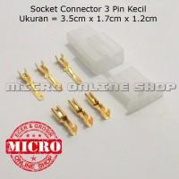 harga Socket 3 Pin Kecil + Skun / Soket Motor / Konektor Motor / Kabel Motor Tokopedia.com